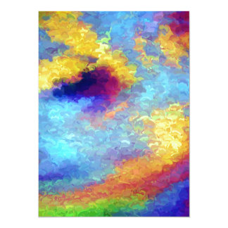 Rainbow Reflections in Water Card