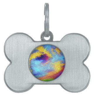Rainbow Reflections in Water Pet Name Tag