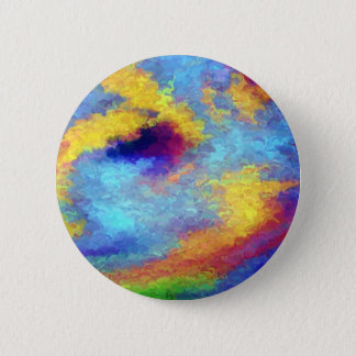 Rainbow Reflections in Water Pinback Button