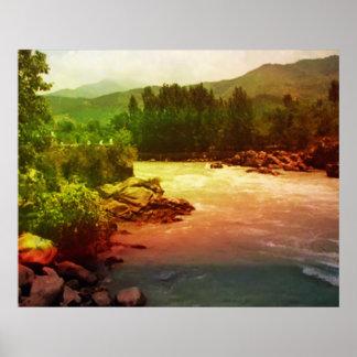 Rainbow Reflections over Himalayan River Print