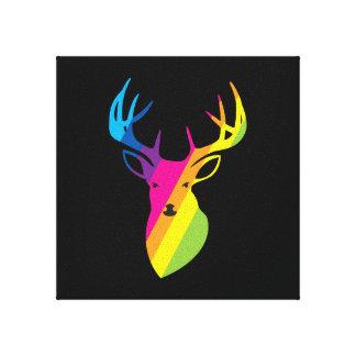 Rainbow Reindeer Canvas Print
