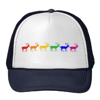 Rainbow Reindeer Trucker Hat