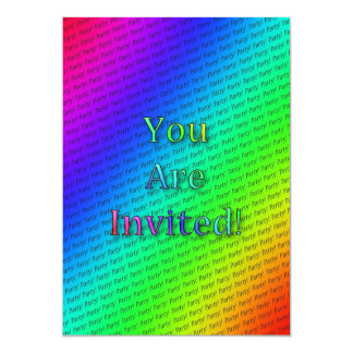 Rainbow repeating text card