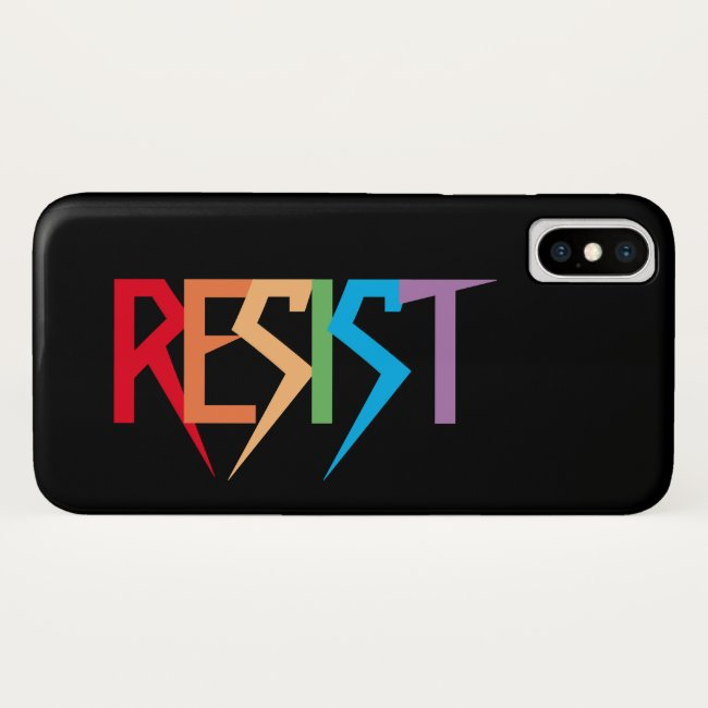 Rainbow Resist iPhone X Case