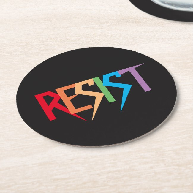 Rainbow Resist Paper Coasters