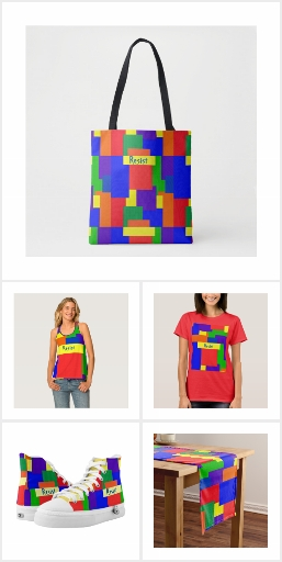 Rainbow Resist Patchwork Quilt Design