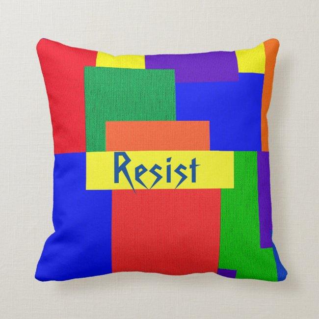 Rainbow Resist Patchwork Quilt Design Pillow