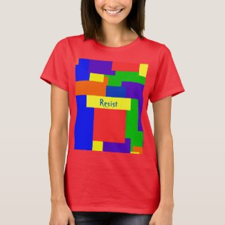 Rainbow Resist Patchwork Quilt Design T-Shirt