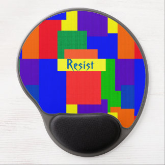 Rainbow Resist Patchwork Quilt Gel Mousepad
