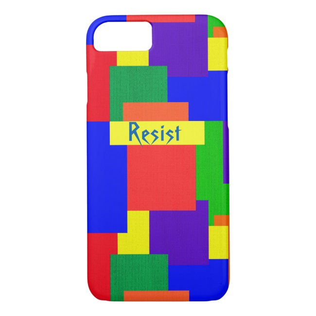 Rainbow Resist Patchwork Quilt iPhone 7 Case