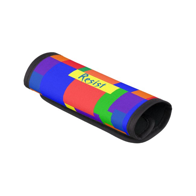 Rainbow Resist Patchwork Quilt Luggage Handle Wrap
