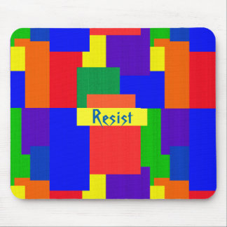 Rainbow Resist Patchwork Quilt Pattern Mousepad