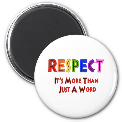 Rainbow Respect 2 Inch Round Magnet