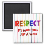 Rainbow Respect 2 Inch Square Magnet