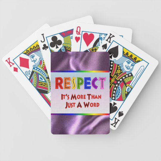 Rainbow Respect Bicycle Playing Cards
