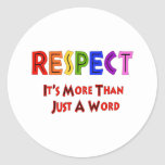 Rainbow Respect Classic Round Sticker