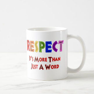 Rainbow Respect Classic White Coffee Mug