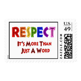 Rainbow Respect Postage Stamp