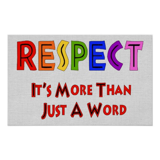 Rainbow Respect Poster | Zazzle