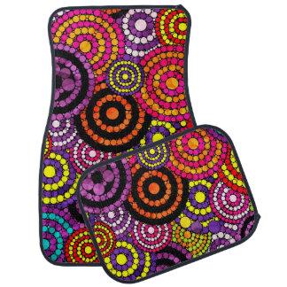 Rainbow Retro Bling Abstract Pattern Car Floor Mat