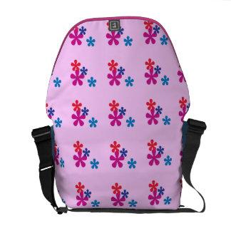 Rainbow Retro Flowers Messenger Bag