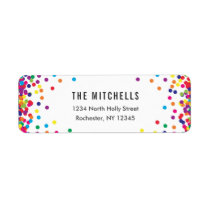 Rainbow Return Address Labels | Birthday Party