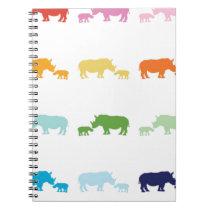 Rainbow Rhinos Notebook
