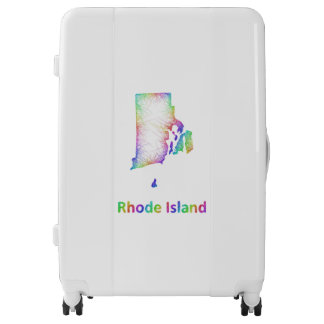 Rainbow Rhode Island map Luggage