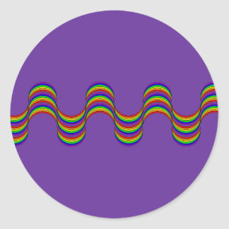 Rainbow Ribbon Apparel and Rainbow Gifts Classic Round Sticker