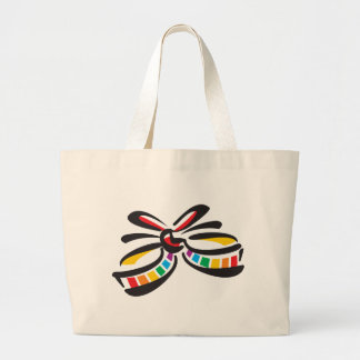 Rainbow Ribbon Tote Bags