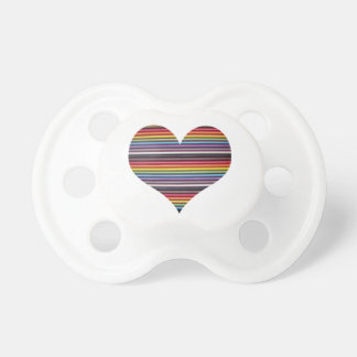 Rainbow Ribbon Cable Heart BooginHead Baby Pacifie Pacifier