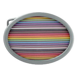 Rainbow Ribbon Cable Texture Belt Buckle