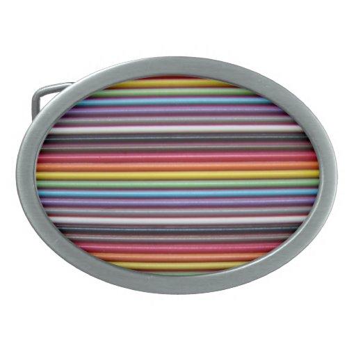 Ribbon Cable Texture : Rainbow ribbon cable texture belt buckle zazzle