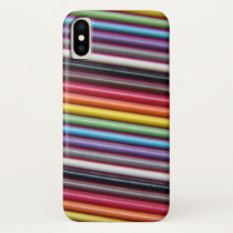 Rainbow Ribbon Cable Texture iPhone X Case