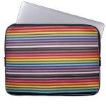 Rainbow Ribbon Cable Texture Laptop Sleeve