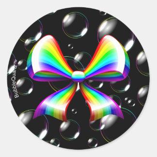 Rainbow ribbon stickers