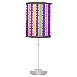 Rainbow Ribbon Stripes Table Lamp