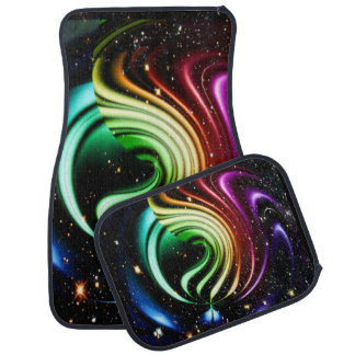 Rainbow Ribbons in Space Car Mats Car Mat