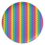Rainbow Rickrack Plate