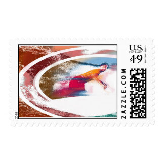 Rainbow Rider Surf Stamp