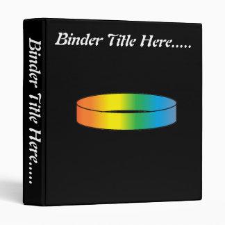 "Rainbow Ring 1"" 3 Ring Binder"