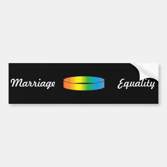 Rainbow Ring Bumper Sticker