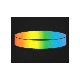 Rainbow Ring Stretched Canvas Prints