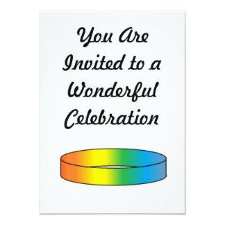 Rainbow RIng 5x7 Paper Invitation Card