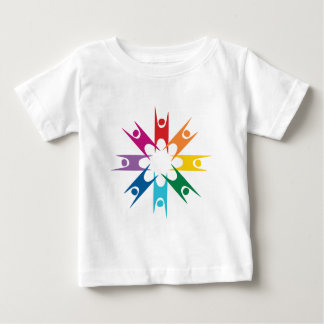 Rainbow Ring of Humanists Baby T-Shirt