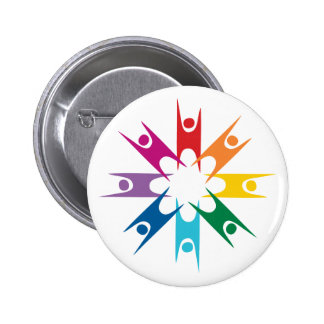 Rainbow Ring of Humanists 2 Inch Round Button