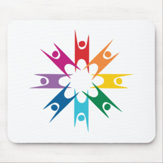 Rainbow Ring of Humanists Mouse Pad