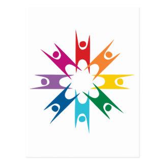 Rainbow Ring of Humanists Postcard