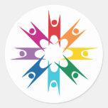 Rainbow Ring of Humanists Round Sticker