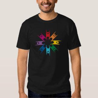 Rainbow Ring of Humanists Tee Shirt
